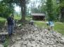Jižní nádvoří - úklid skládky kamení 28.5.- 8.9.2018