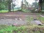 Betonování základových patek pro přístřešek  23.8.2014