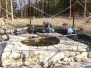 Dozdění základu studny 17.4.2014