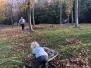 """Jižní nádvoří, """"zahrada"""" a louka - hrabání a úklid listí 25.10.2019 a  1.2.2020"""
