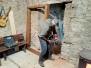 Místnost 3 - montáž jižních dveří 1.8. - 18.2.2020