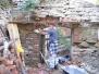 Oprava zdiva u průchodu z místnosti č.1 do místnosti č.2 3.7., 11.7., 16.7. a 25.7.2014