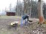 Pokračování v kultivaci jižního nádvoří a renovaci studny 28.3.2015