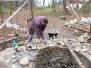 Vyzdívání studny na úrovni terénu 1.-3.11.2013